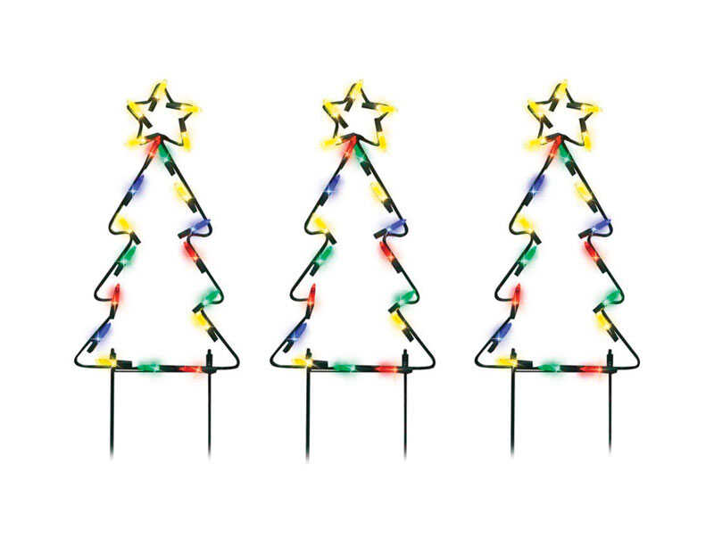 Product Works  Pathway Tree  Christmas Decoration  Metal frame  Multicolored  1 pk