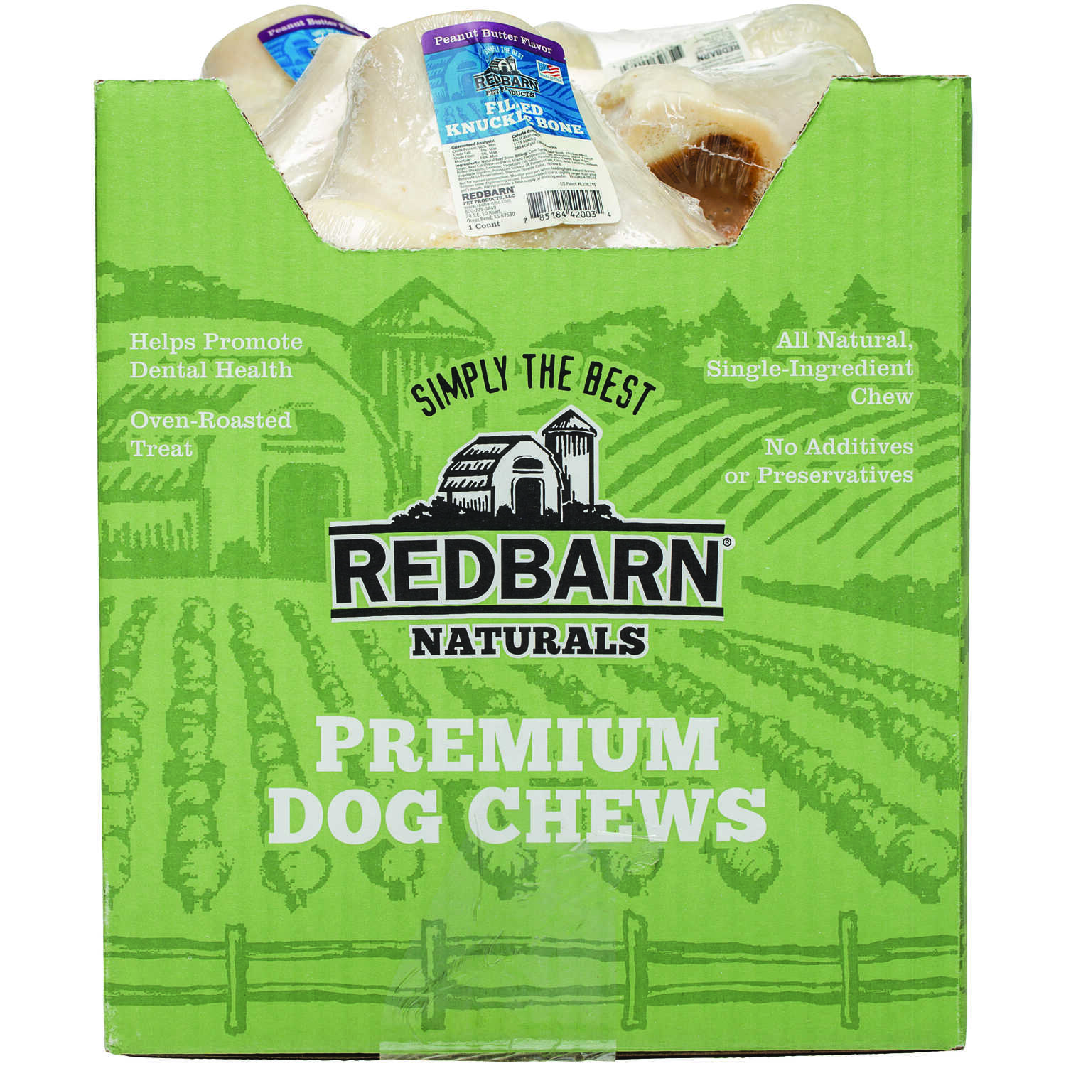 Redbarn  Dog Treats  Peanut Butter  Dog  Bone  1  1 pk