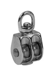 Baron  1 in. Dia. Nickel  Zinc  Fixed Eye  Single Eye Pulley