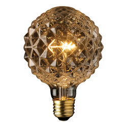 Globe Electric  Crystalina  40 watt G40  Decorative  Incandescent Bulb  E26 (Medium)  Amber  1 pk