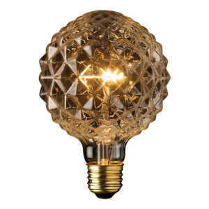 Globe  Crystalina  40 watts G40  Decorative  Incandescent Bulb  E26 (Medium)  Amber  1 pk