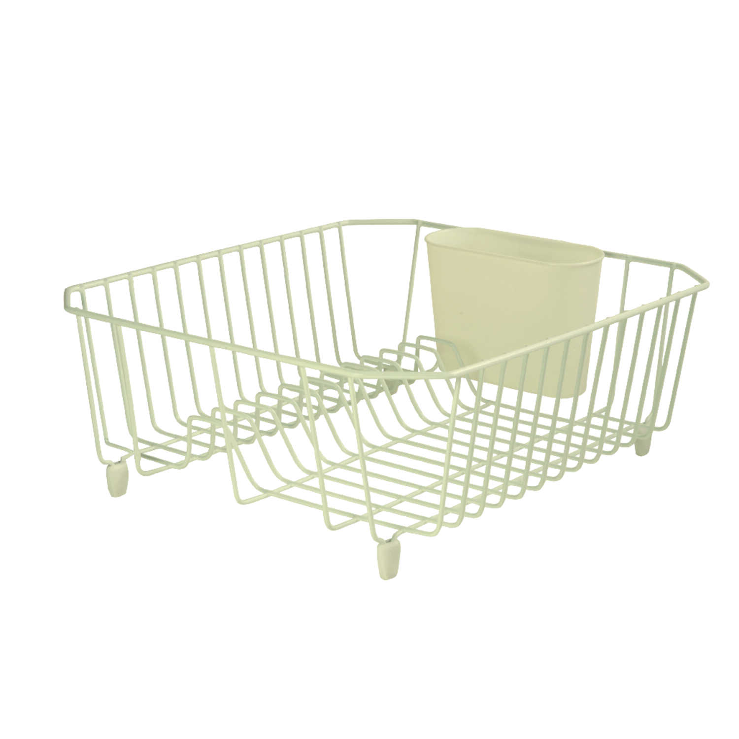 Rubbermaid  5.3 in. H x 12.4 in. W x 14.3 in. L Steel  Dish Drainer  Bisque