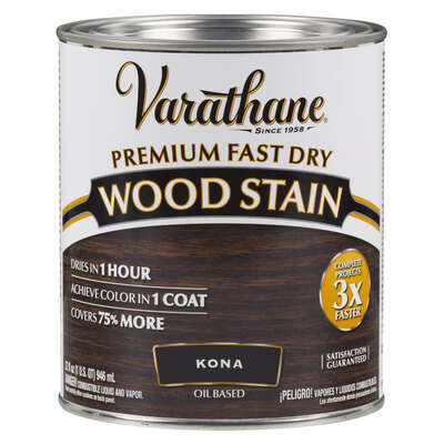 Varathane  Semi-Transparent  Kona  Oil-Based  Urethane Modified Alkyd  Wood Stain  1 qt.