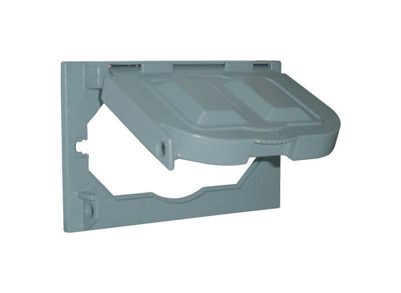 Sigma Electric  Rectangle  Plastic  Multi-Use Cover  For Wet Locations