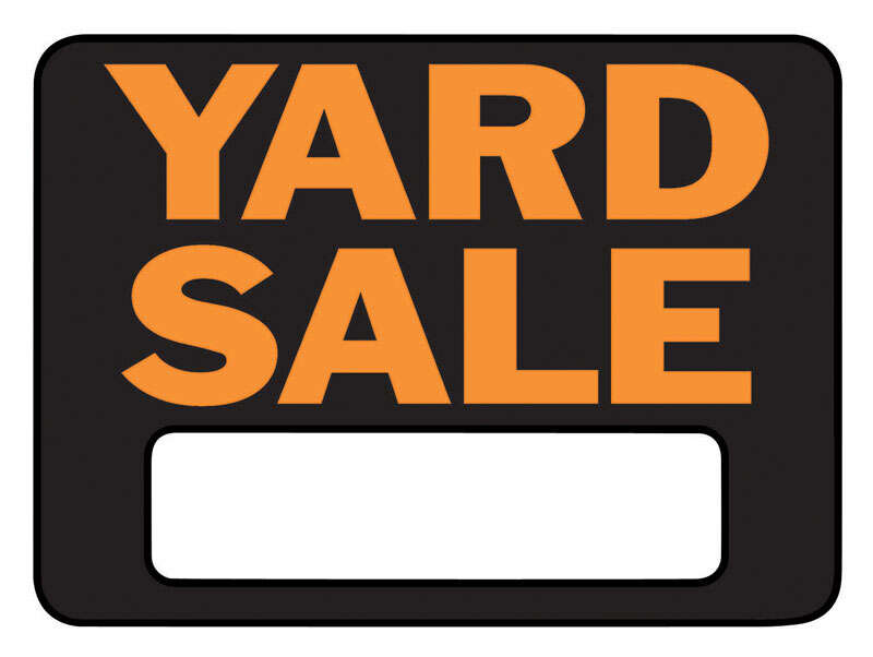 Hy-Ko  Hy-Glo  English  Black  Garage Sale  Sign  8.5 in. H x 12 in. W