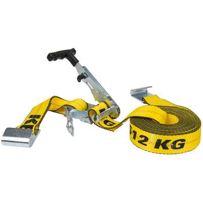 Keeper  Ratchet Armour Series Flat  2 in. W x 27 ft. L Yellow  Tie Down w/Ratchet  3333 lb. 1 pk