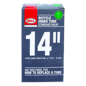 Bell Sports  14 in. Rubber  14 x 1.75 - 2.25  Bike Tube  1 pk
