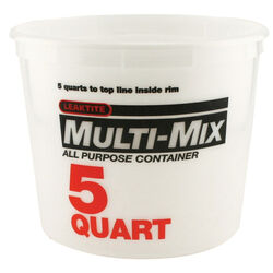 Leaktite Clear 5 qt. Plastic Bucket