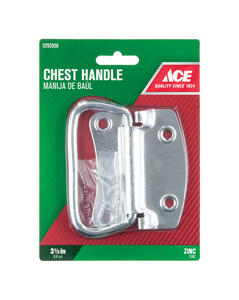 Ace  Zinc-Plated  Zinc  Chest Handle  3-1/2 in. 1 pk