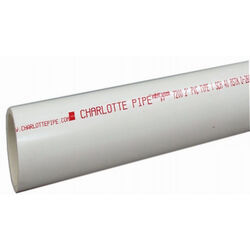 Charlotte Pipe  Schedule 40  PVC  Pipe  2 in. Dia. x 5 ft. L Plain End  280 psi
