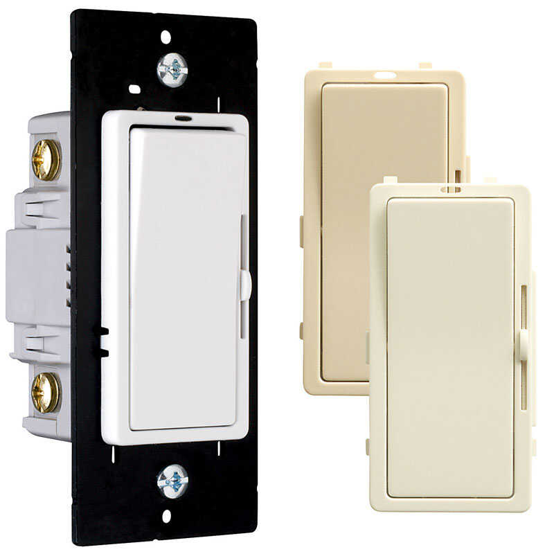 Pass & Seymour  Multicolored  700 watts 3-Way  Dimmer Switch  1 pk