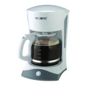 Mr. Coffee  Simple Brew  12 cups White  Coffee Maker
