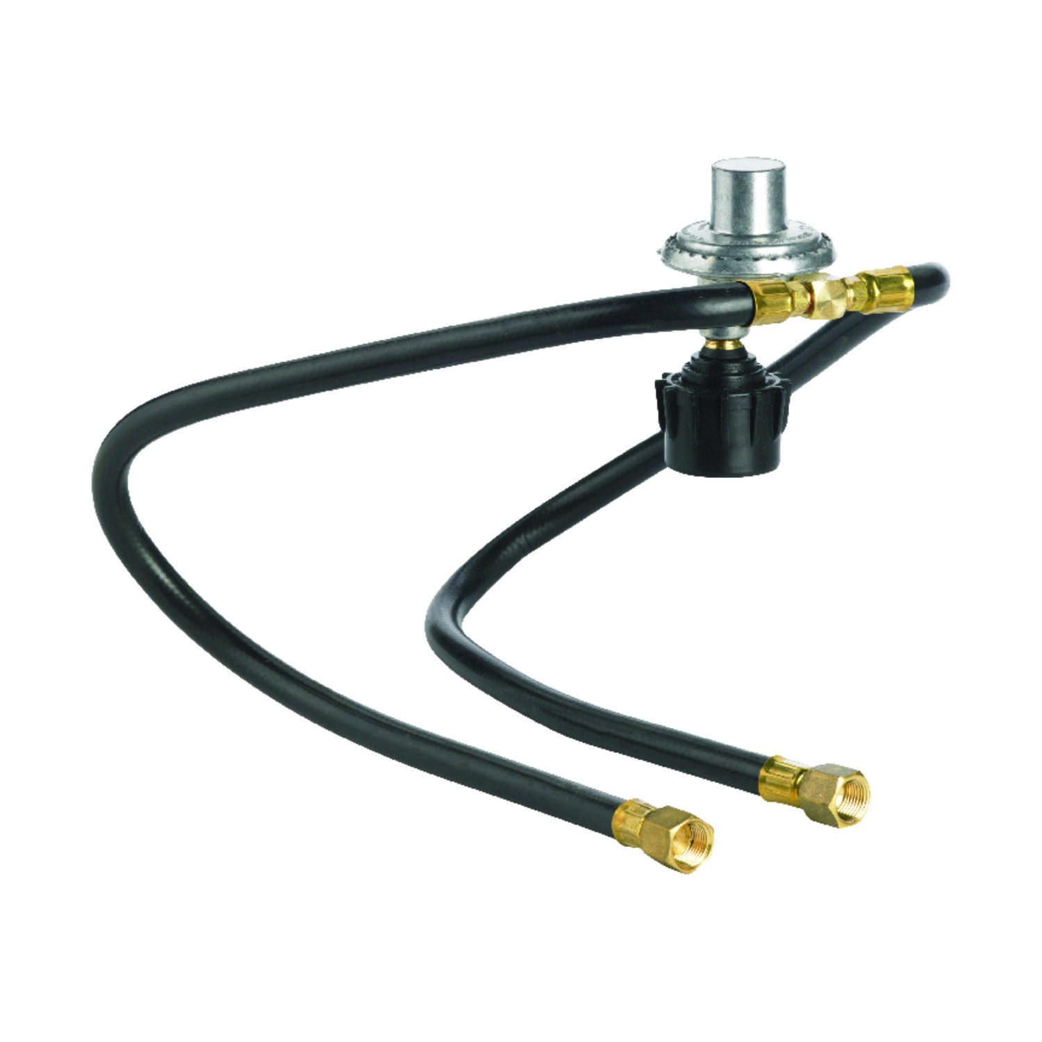 Grillmark  Stainless Steel/Rubber/Brass  Gas Line Hose and Regulator  3 in. H x 3 in. W x 21 in. L