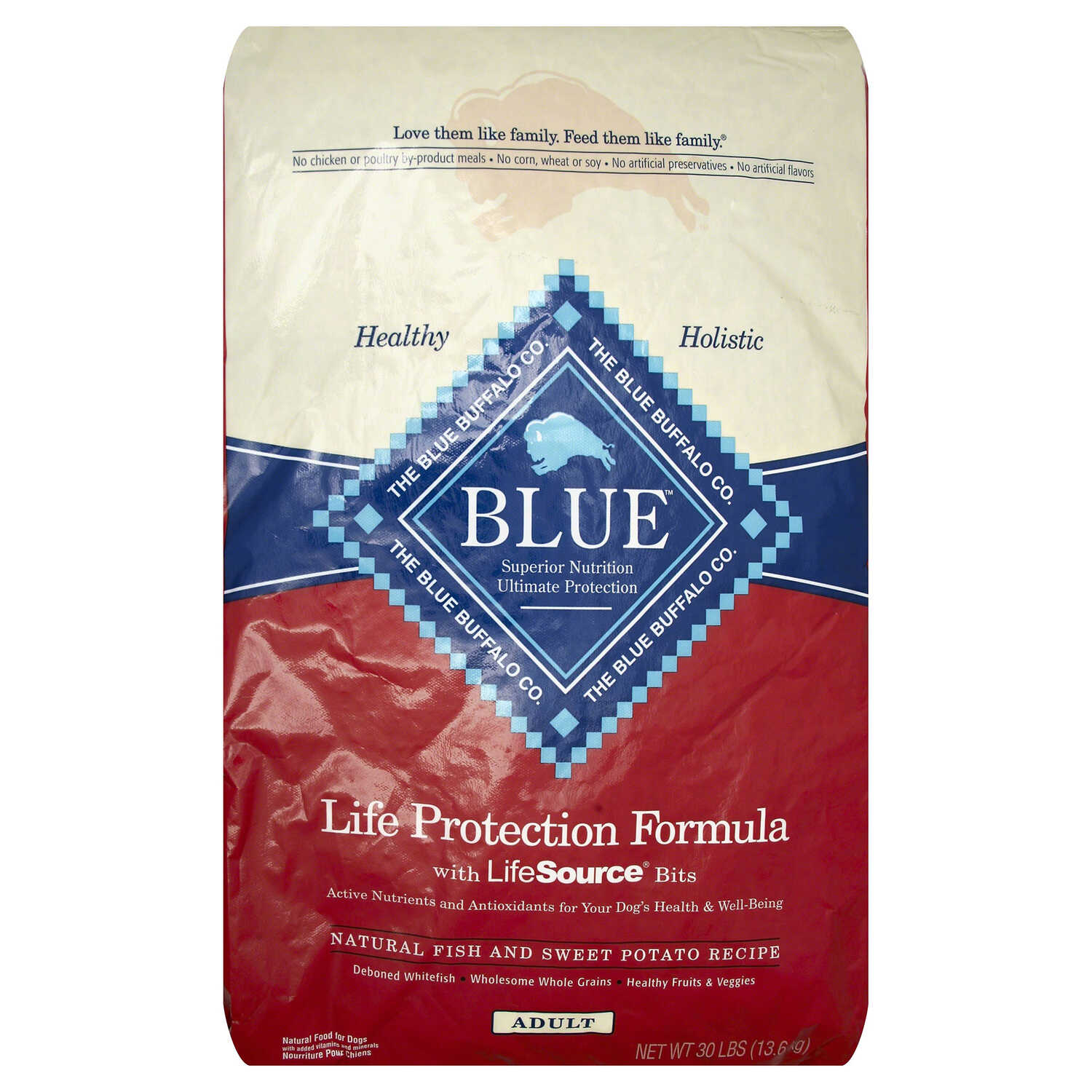 Blue Buffalo  Life Protection Formula  Fish and Sweet Potato  Dog  Food  30
