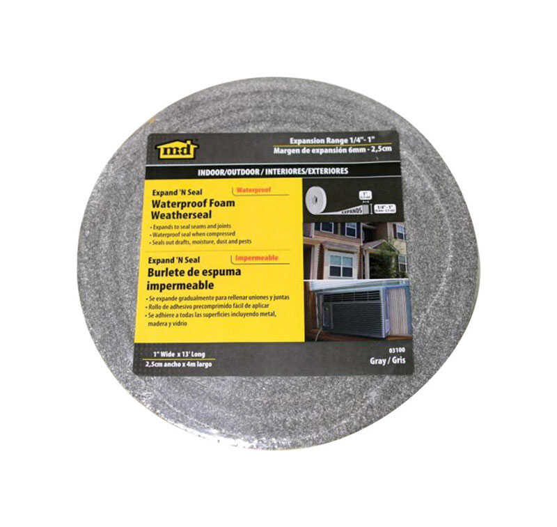 M-D Building Products  Gray  Foam  13 ft. L x 1/4 in.  Weather Stripping  For Window