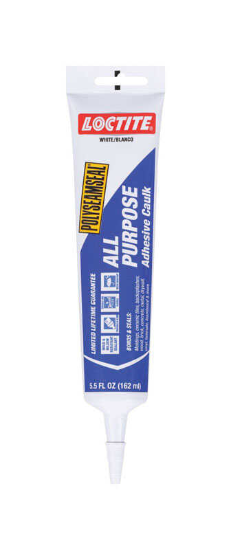 Loctite  White  Polyseamseal  Adhesive Caulk  5.5 oz. Acrylic Latex