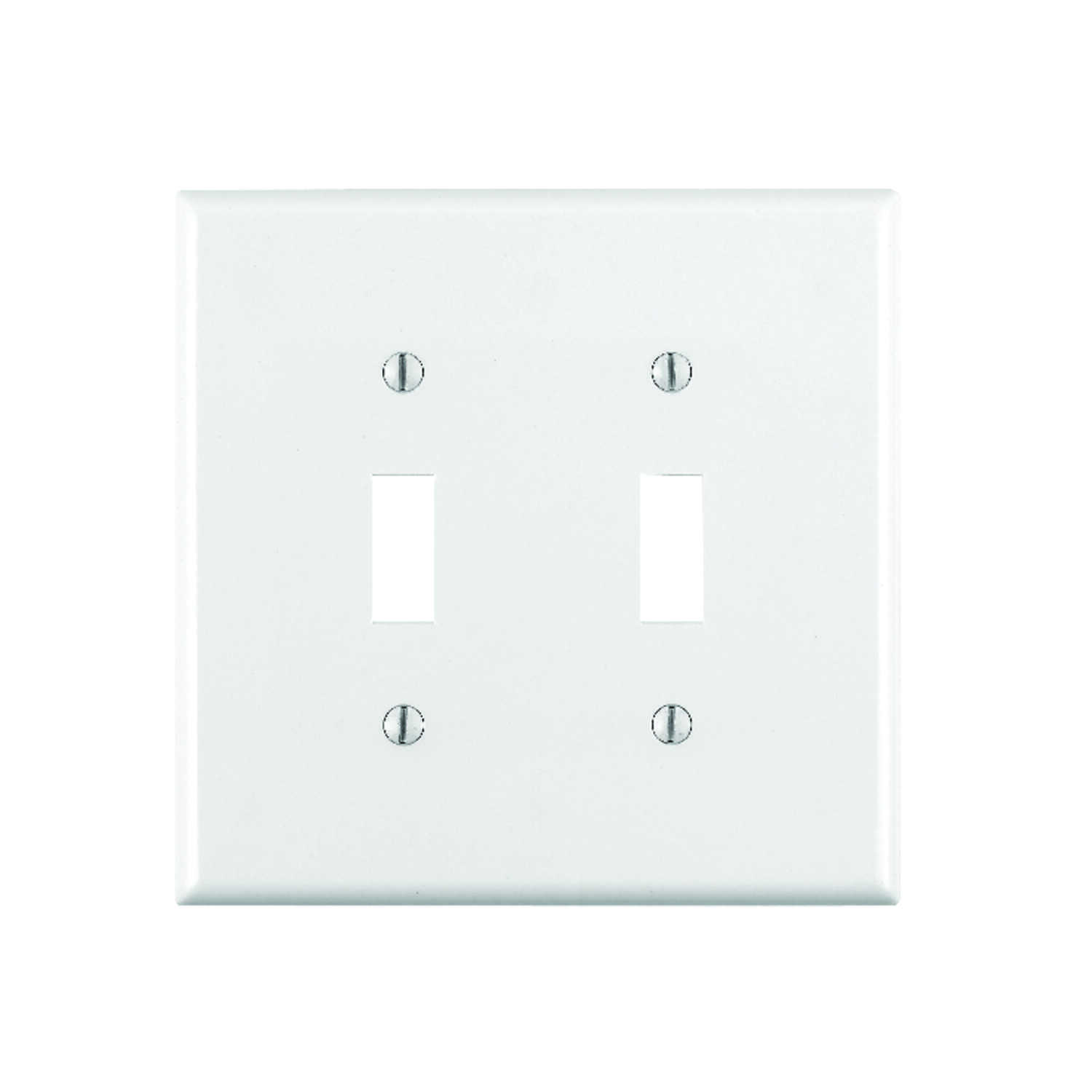 Leviton  White  2 gang Nylon  Toggle  Wall Plate  1 pk