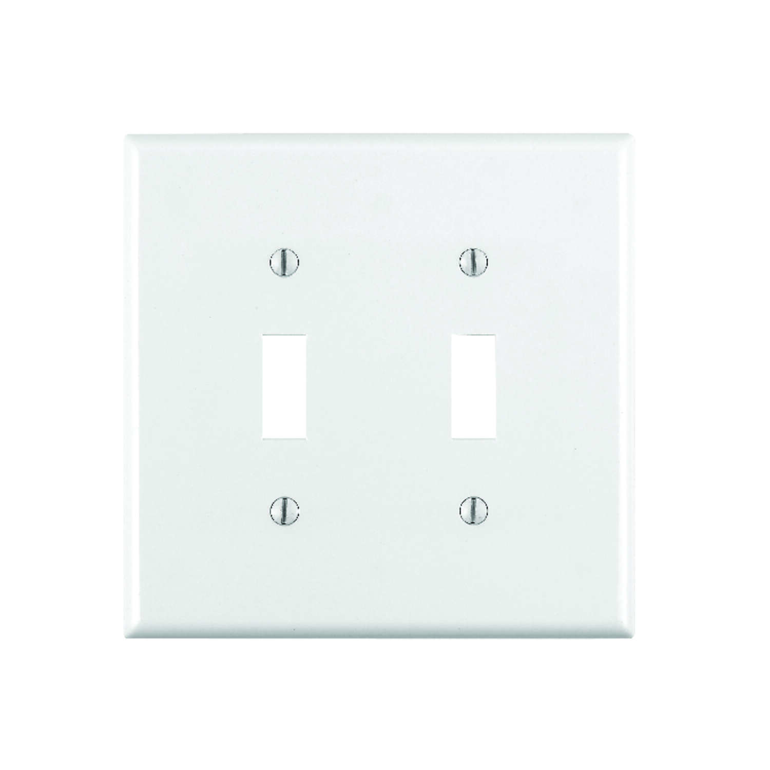 Leviton  White  2 gang Thermoplastic Nylon  Toggle  Wall Plate  1 pk
