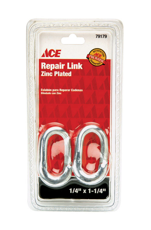 Ace  Zinc-Plated  Steel  Repair Lap Link  400 lb. 1-1/4 in. L 2 pk