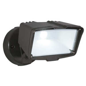All-Pro  Hardwired  Bronze  Switch  Floodlight  Metal