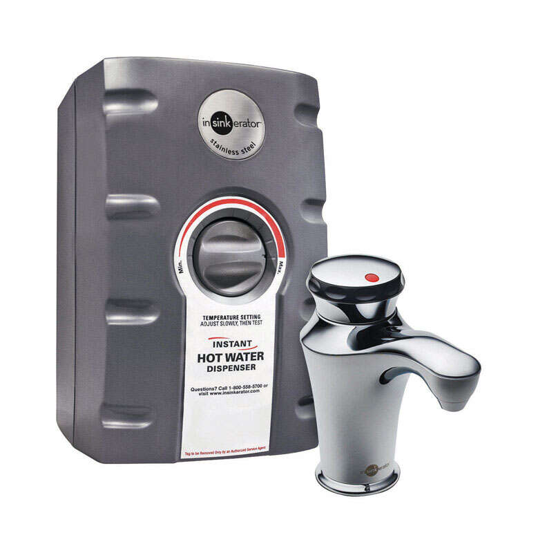 InSinkErator Invite 2/3 gal. Silver Hot Water Dispenser Stainless Steel