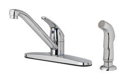 OakBrook Essentials One Handle Polished Chrome Kitchen Faucet Side Sprayer Included