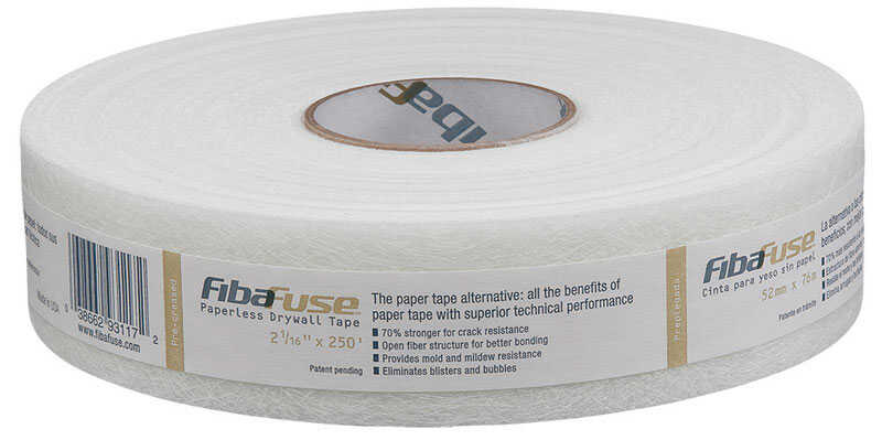 Saint-Gobain ADFORS  FibaFuse  250 ft. L x 2 in. W Fiberglass  White  Paperless Drywall Tape