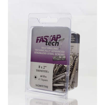 Fastap  Tech 7  No. 10   x 3 in. L Square  Wood Screws  8 oz. 30 pk
