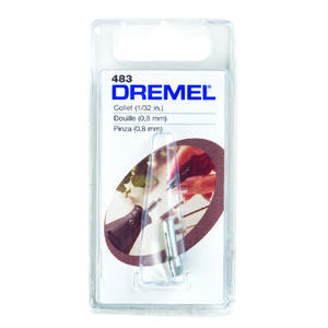 Dremel  1/32   x 1 in. L x 1/32 in. Dia. Metal  Collets  1 pk