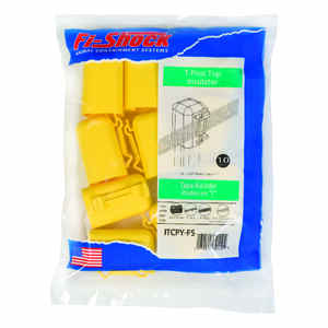 Fi-Shock  Electric  Electric Fence Insulator  Yellow