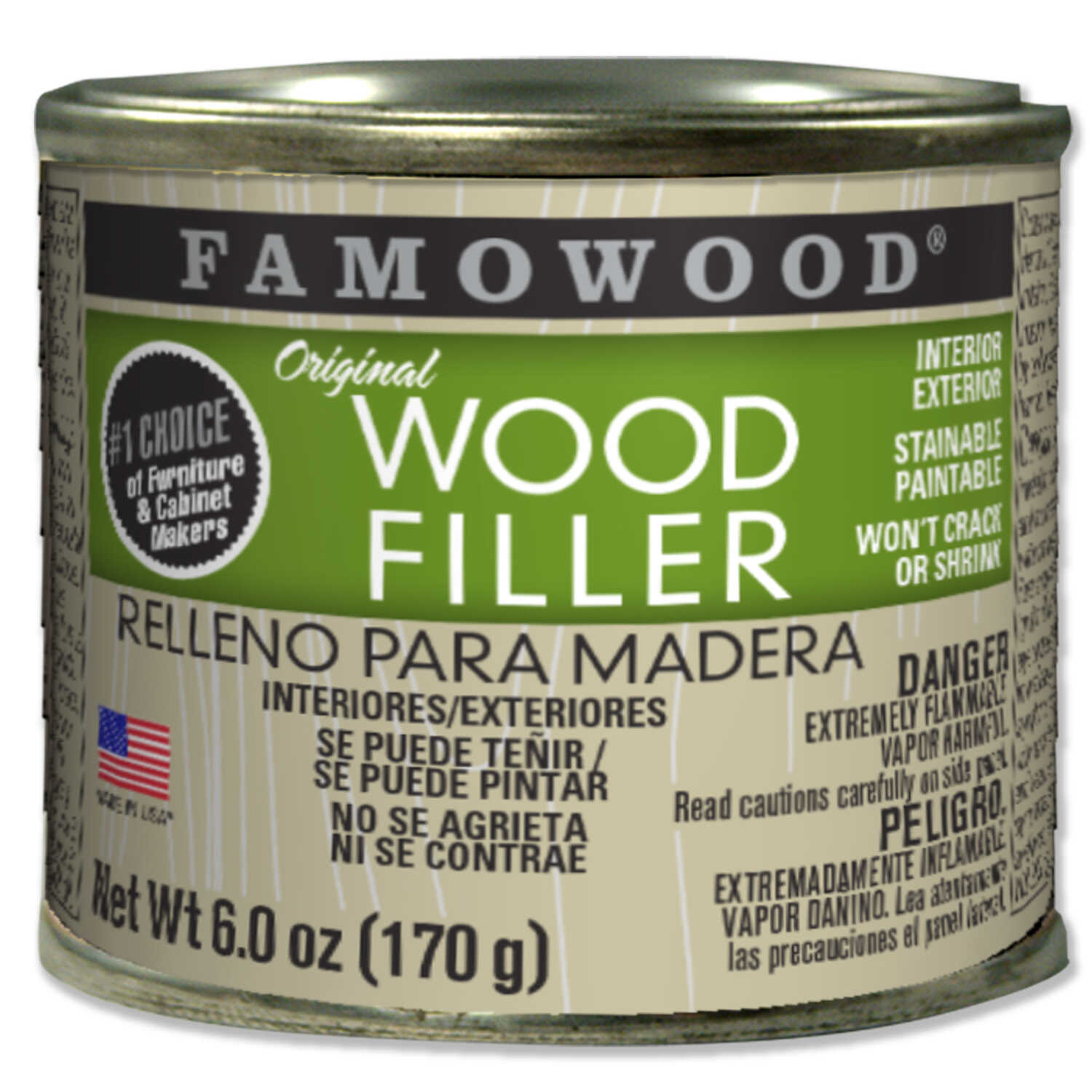 Famowood  Red Oak  Wood Filler  6 oz.