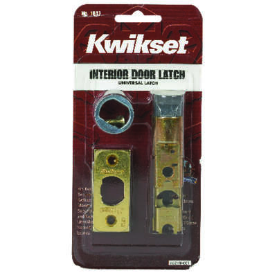 Kwikset  Bright Brass  Gold  Steel  Door Latch  1 pk