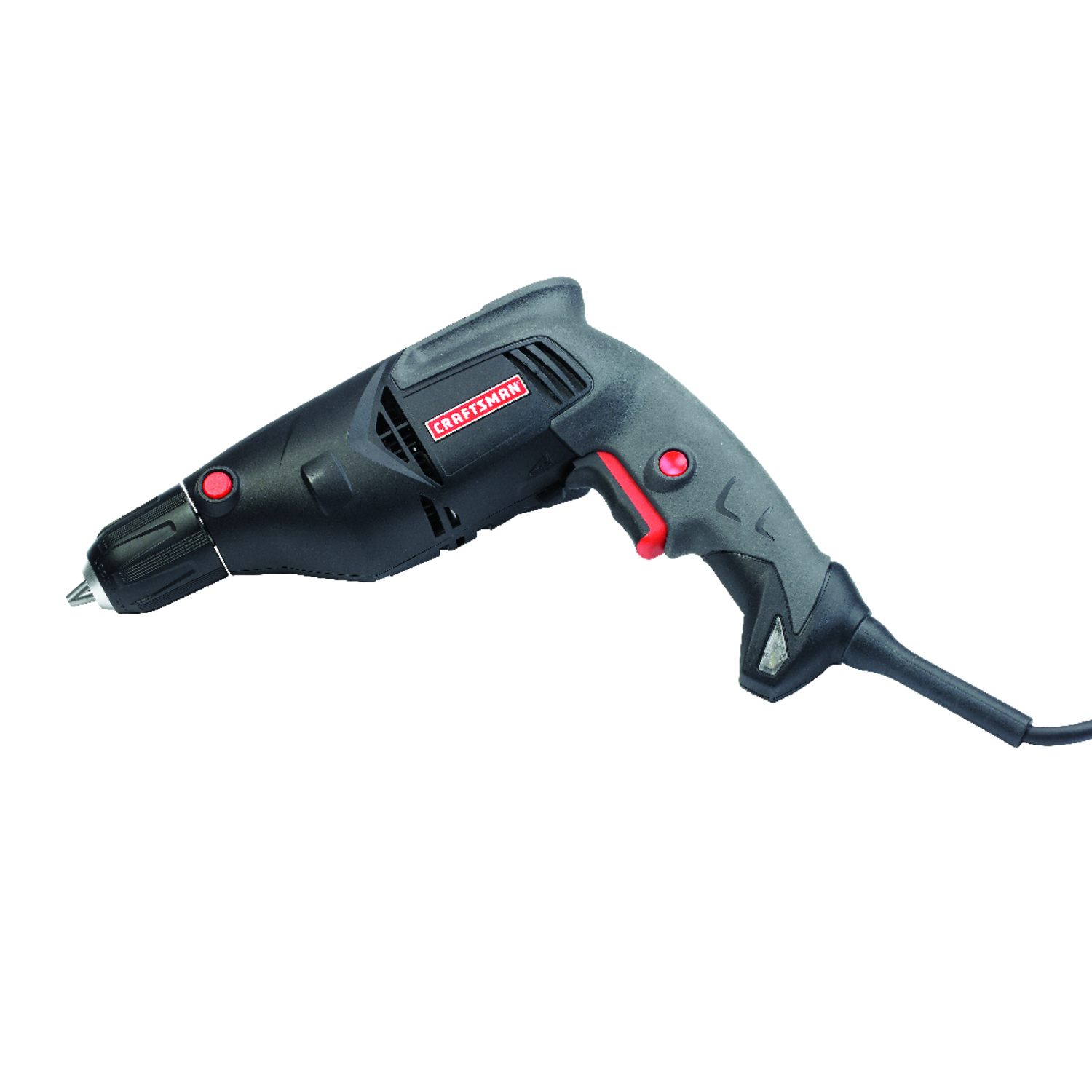 Craftsman  3/8 in. Keyless  Corded Drill  5.5 amps 1500 rpm
