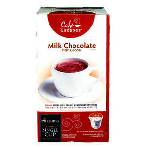 Keurig  Cafe Escapes  Milk Chocolate  Hot Chocolate K-Cups  Decaffeinated 16 pk