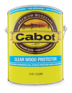 Cabot  Transparent  Clear  Water-Based  Penetrating Waterborne  Wood Protector  1 gal.