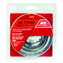 Ace 4-1/2 in. Dia. Stainless Steel Basket Strainer Assembly