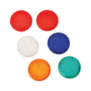 Hy-Ko  7.8 in. Round  Assorted  Reflectors  6 pk