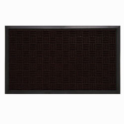 Sports Licensing Solutions 36 in. L x 24 in. W Brown Parquet Nonslip Boot/Shoe Mat