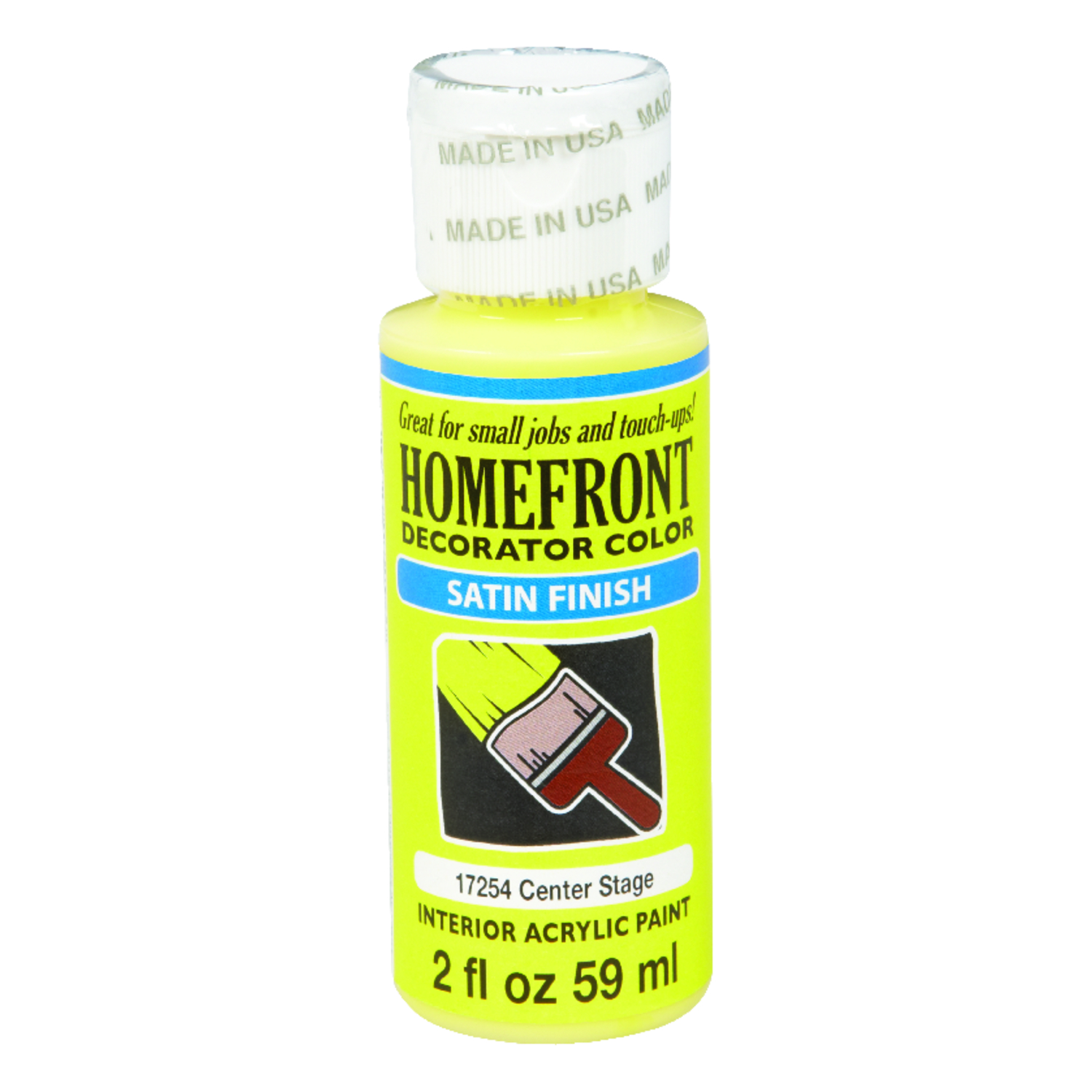 Homefront  Decorator Color  Satin  Center Stage  Acrylic Latex  2 oz. Hobby Paint