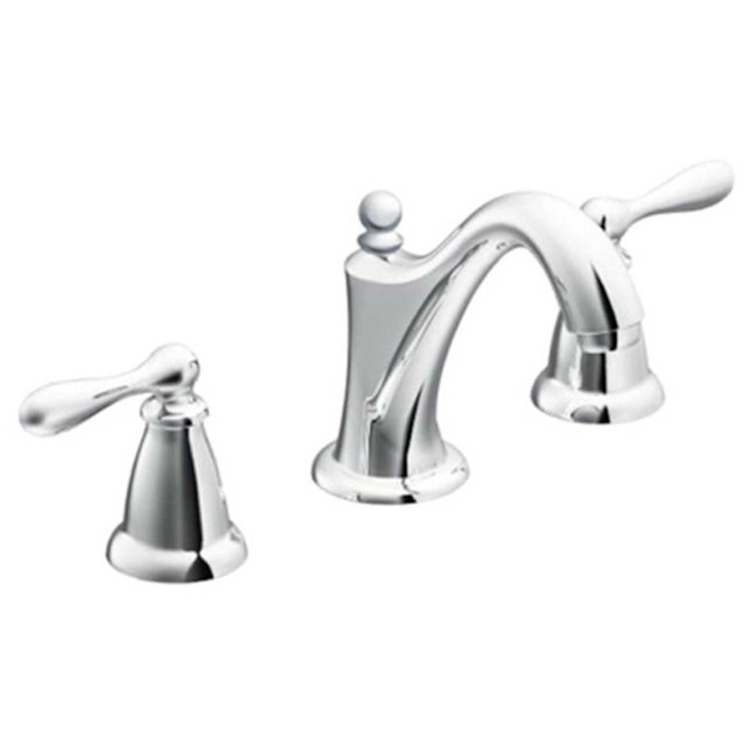 Moen Caldwell Chrome Two Handle Lavatory Faucet Widespread