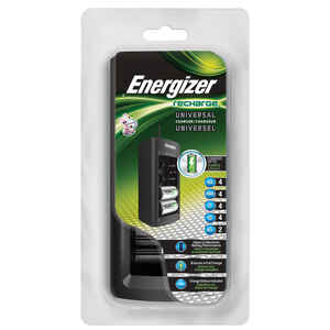 Energizer  Recharge  4 Battery Black  Rechargeable Battery Charger