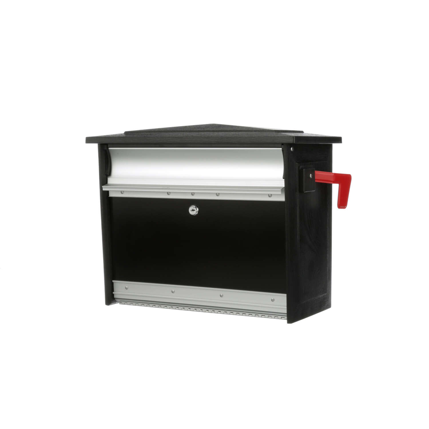 Gibraltar Mailboxes Mailsafe Contemporary Plastic Wall Mount Black Mailbox