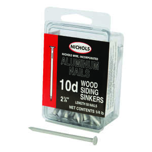 Nichols Wire  10D  2-7/8 in. L Siding  Aluminum  Nail  Sinker Head Smooth Shank  50  1/4 lb.