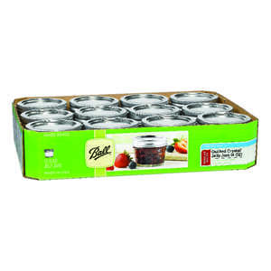 Ball  Regular Mouth  Canning Jar  4 oz. 12 pk