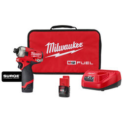 Milwaukee M12 FUEL SURGE 12 volt 1/4 in. Cordless Brushless Hydraulic Impact Driver Kit (Batter