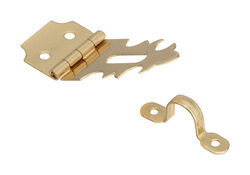 National Hardware  Solid Brass  1-7/8 in. L Decorative Hasp  1