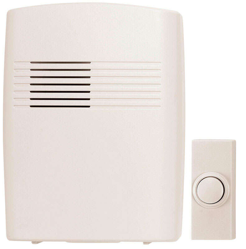 Heath Zenith  Plastic  Wireless  Door Chime Kit