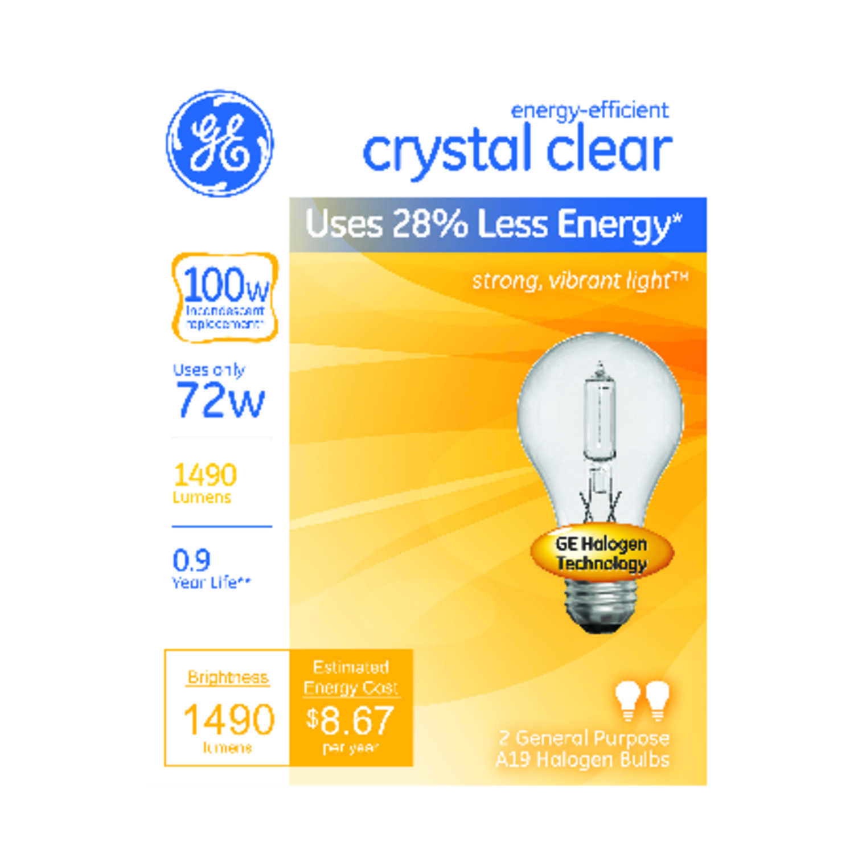 Ge Lighting 72 Watts A19 Three Way Bulb Halogen Bulb 1490