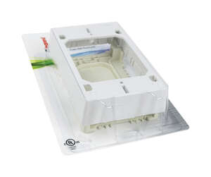 Wiremold  1.2 in. Rectangle  PVC  Electrical Box  White  1 Gang