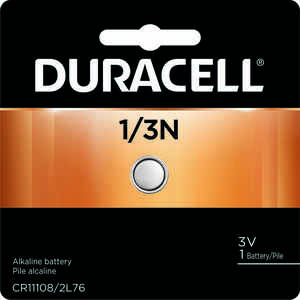 Duracell  Lithium  1/3N  3 volt Camera Battery  1 pk